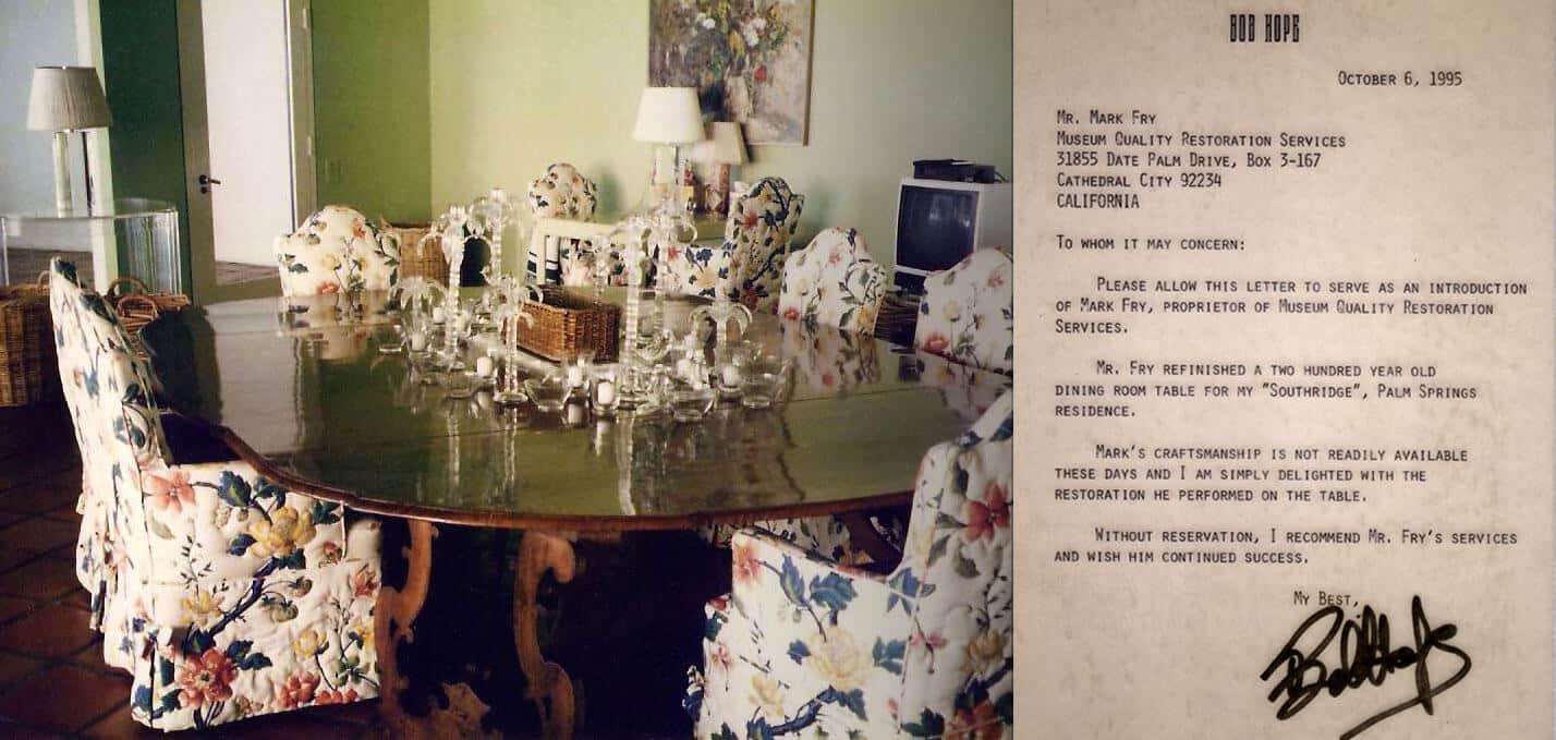 Bob Hope Table Refinish