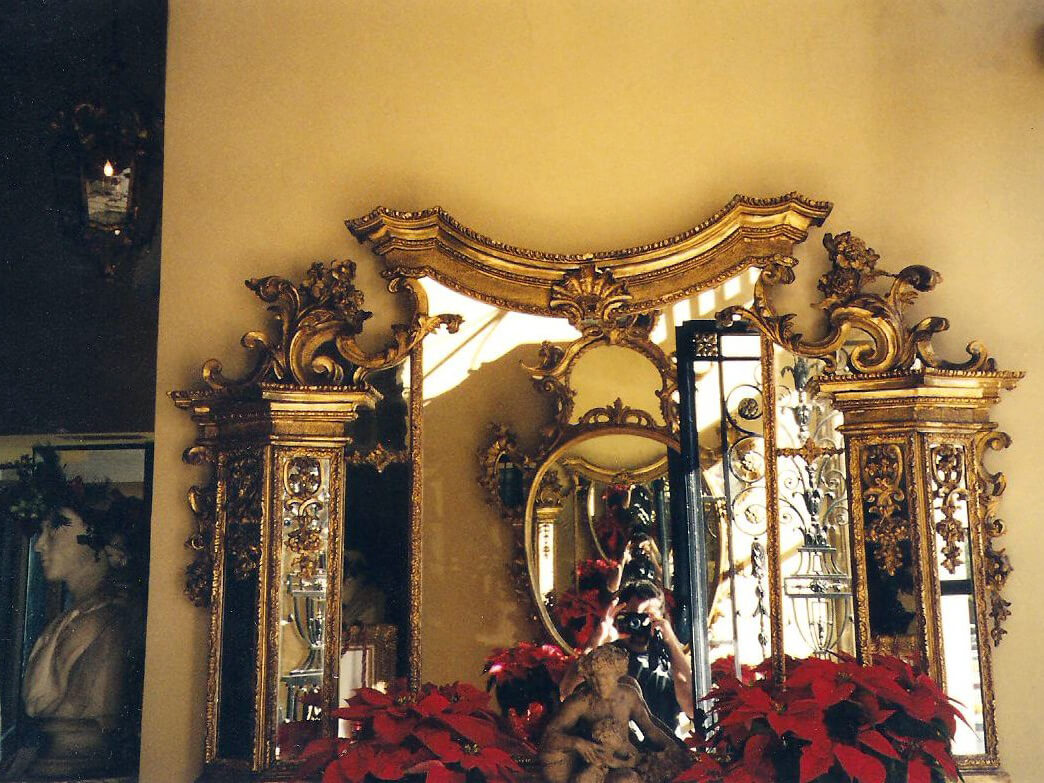 1700's Giltwood Mirror