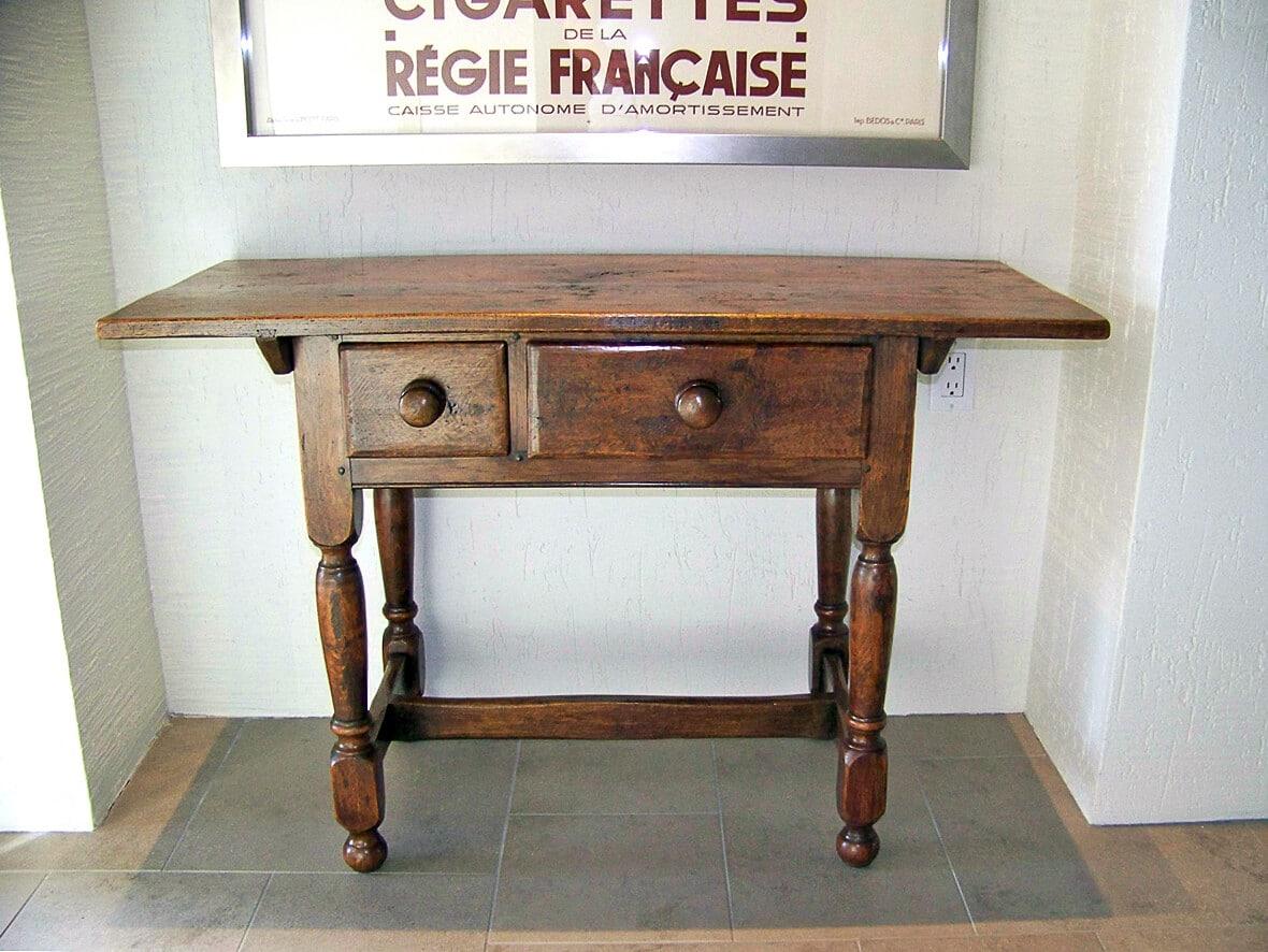 Hand Waxed Oak Side Table.