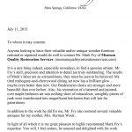 Herman Wouks Letter