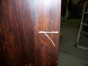 Gouged Rosewood Desk George Nelson